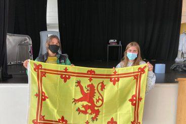 DGS Pupils cheer on Scotland