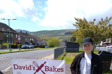 David bakes for charity
