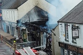 Arrests made in connection with town centre fire